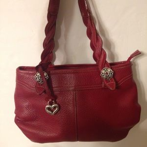 👛 BRIGHTON 👛 red leather bag